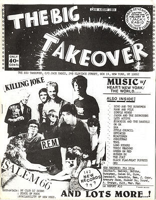 Big Takeover Magazine/Fanzine Issue No 17 Killing Joke Salem 66 REM Siouxsie Cult Simple Minds