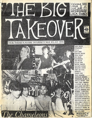 Big Takeover Magazine/Fanzine Issue No 22 New Model Army The Chameleons Wednesday Week
