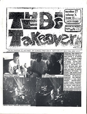 Big Takeover Magazine/Fanzine Issue No 27 Stiff Little Fingers Buzzcocks Undertones Naked Raygun