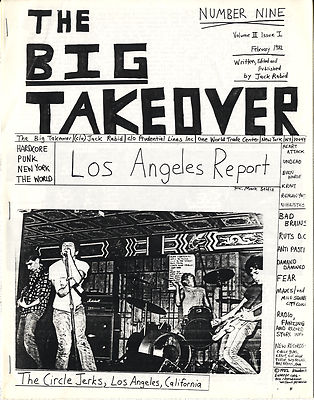 Big Takeover Magazine/Fanzine Issue No 9 Circle Jerks Damned Undead Bad Brains Ruts DC Fear