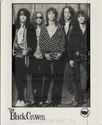 BLACK CROWES 8x10 inch Genuine DEF AMERICAN Records B&W Photograph Rare Lab Photo No 1