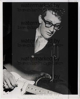 Buddy Holly Genuine Vintage 8x10 inch B&W Photograph Rare Lab Photo