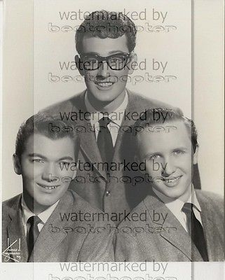 Buddy Holly & The Crickets 8x10 inch Genuine B&W Agency Photograph Rare Lab Photo No 1