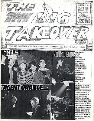 Big Takeover Magazine/Fanzine Issue No 20 Big Black Naked Raygun Red Lorry Yellow Lorry The Damned