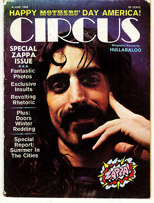 Circus Magazine June 1969 Special Frank Zappa Issue Tim Hardin Doors Noel Redding