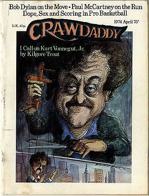 Crawdaddy Magazine April 1974 Bob Dylan Paul McCartney Phil Ochs Joni Mitchel Kurt Vonnegut