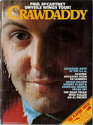 Crawdaddy Magazine April 1976 Ed Sanders Led Zeppelin Robert Plant Paul McCartney Grand Funk