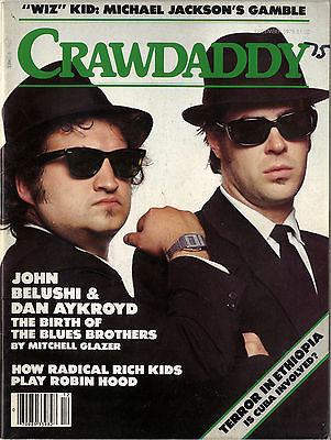 CRAWDADDY Magazine December 1978 Michael Jackson Blues Brothers Belushi Terror in Ethiopia