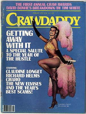 CRAWDADDY Magazine February 1978 David Bowie Claudine Longet Joni Mitchell Sex Pistols
