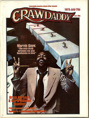 Crawdaddy Magazine July 1973 Marvin Gaye interview Arthur Crudup Robert Crumb Larry Coryell