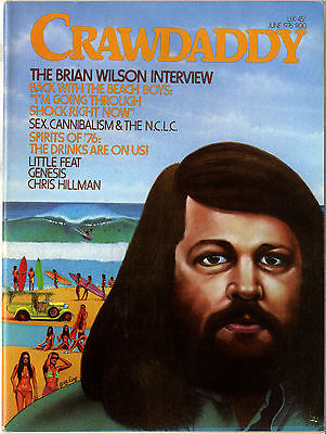 Crawdaddy Magazine June 1976 Genesis Little Feat Beach Boys Brian Wilson interview Chris Hillman