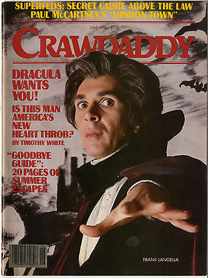CRAWDADDY Magazine June 1978 Paul McCartney Blondie Dracula Frank Langella Zappa