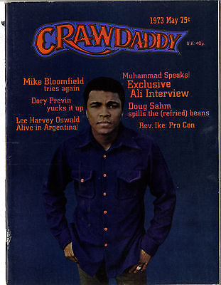 Crawdaddy Magazine May 1973 Mike Bloomfield Doug Sham Dory Previn Free Muhammad Ali