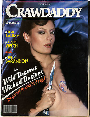 CRAWDADDY Magazine May 1978 Muhammad Ali Alan Ladd Raquel Welch Susan Sarandon