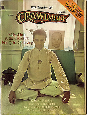 Crawdaddy Magazine November 1973 Mahavishnu Orch John McLaughinAl Kooper Pointer Sisters