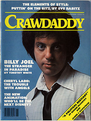 CRAWDADDY Magazine November 1978 Cheryl Ladd Animation The Who Billy Joel
