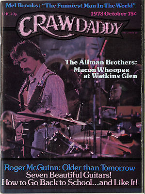 Crawdaddy Magazine October 1973 Roger McGuinn Byrds Allman Brothers Mel Brooks New York Dolls