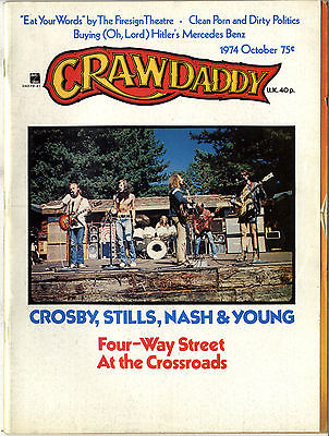 Crawdaddy Magazine October 1974 Bob Dylan Crosby Stills Nash & Young Les Variations
