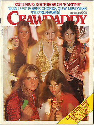 Crawdaddy Magazine October 1976 The Runaways Gram Parsons Gary Wright Linda Ronstadt Jeff Beck