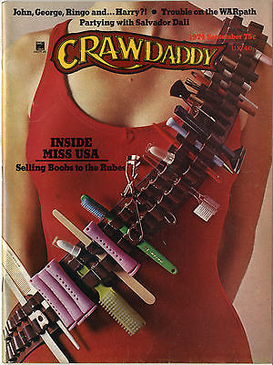Crawdaddy Magazine September 1974 Lindsey Kemp Dali Nilsson Doc Watson Miss USA Sun Ra Kinks