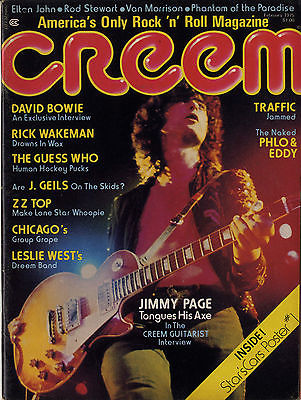 Creem Magazine February 1975 David Bowie ZZ Top Jimmy Page Led Zeppelin Traffic Rick Wakeman