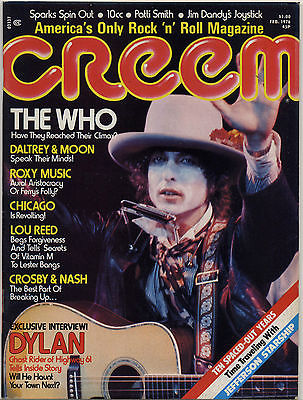 Creem Magazine February 1976 Who Roxy Music Bryan Ferry Chicago Lou Reed Bob Dylan Willie Nelson