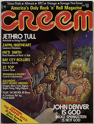Creem Magazine January 1976 Frank Zappa Captain Beefheart Patti Smith Rick Wakeman ZZ Top J Tull