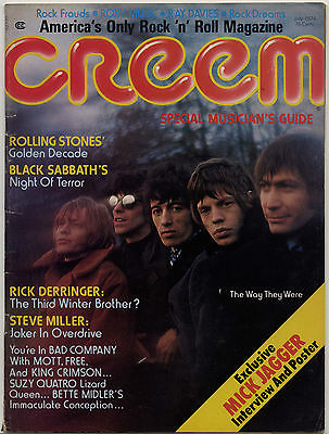 Creem Magazine July 1974 Black Sabbath Bad Company Suzi Quatro New York Dolls Velvet Underground