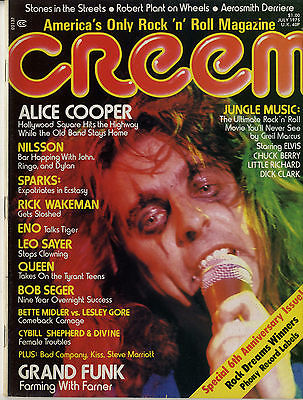 Creem Magazine July 1975 Rolling Stones Robert Plant Queen Alice Cooper Rick Wakeman Grand Funk
