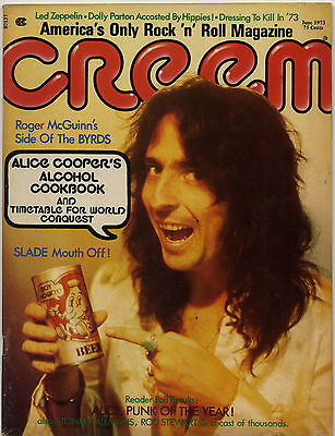 Creem Magazine June 1973 Alice Cooper Led Zeppelin Slade Byrds Roger McGuinn David Crosby