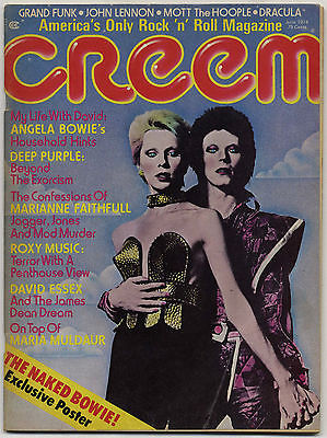 Creem Magazine June 1974 David Bowie Angie Bowie Roxy Music Mott the Hoople Deep Purple