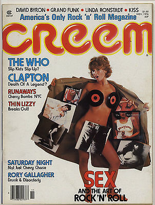 Creem Magazine November 1976 Who Eric Clapton Runaways Thin Lizzy Rory Gallagher Kiss Grand Funk