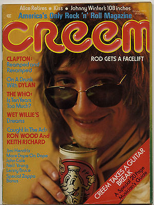 Creem Magazine October 1974 Bob Dylan John Cale Who Keith Richard Eric Clapton Rod Stewart Kiss