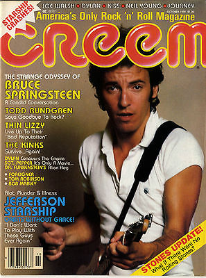 Creem Magazine October 1978 Thin Lizzy Kinks Rolling Stones Neil young Joe Walsh Todd Rundgren
