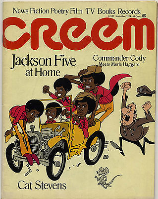 Creem Magazine September 1971 Michael Jackson Five Patti Smith Cat Stevens Commander Cody