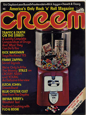 Creem Magazine September 1974 Stephen Stills Eric Clapton Mick Jagger Frank Zappa Blue Oyster Cult