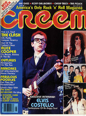 Creem Magazine May 1979 Sid Visious Clash Ramones Jam Who Alice Cooper Elvis Costello Bee Gees