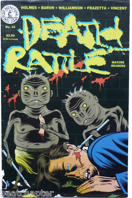 Death Rattle Issue No 10 Underground Vintage Underground Comic Kitchen Sink 1987