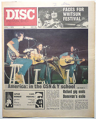 Disc & Music Echo Magazine 1 April 1972 Captain Beefheart Procol Harum Carl Perkins Black Sabbath