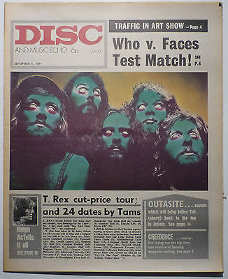 Disc & Music Echo Magazine 11 Sept 1971 Jethro Tull Creedence The Who Ralph McTell Atomic Rooster