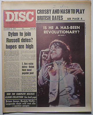 Disc & Music Echo Magazine 16 Oct 1971 Mick Jagger Uriah Heep Brian Jones Bob Dylan Crosby & Nash