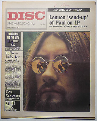 Disc & Music Echo Magazine 18 Sept 1971 Fleetwood Mac Cat Stevens Rod Stewart Melanie Everly Bros