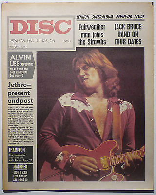 Disc & Music Echo Magazine 2 Oct 1971 Alvin Lee Ten/Tears After Peter Frampton Manfred Mann