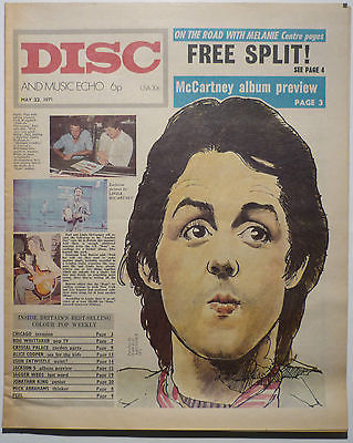 Disc & Music Echo Magazine 22 May 1971 Alice Cooper Who John Entwistle Melanie Mick Abraham