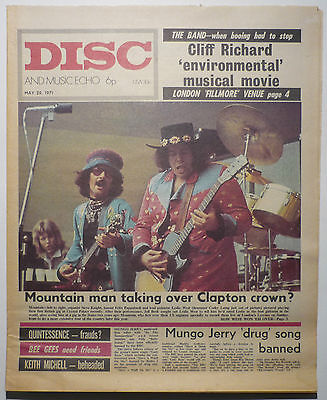 Disc & Music Echo Magazine 29 May 1971 Mountain Bee Gees Quintessence The Band Osibisa Paladin