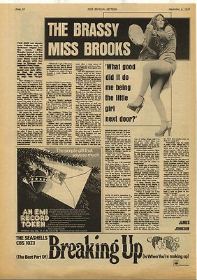 ELKIE BROOKS Brassy Miss Interview Vintage Music Press Article/cutting/clipping 1972