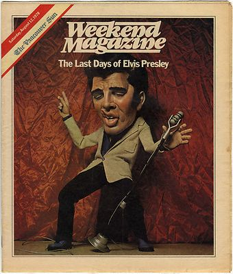Elvis Presley Weekend Magazine 12 August 1978 Canadian 12 pages
