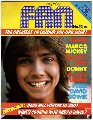 Fan Magazine Issue No 12 David Bowie Michael Jackson Marc Bolan Sweet