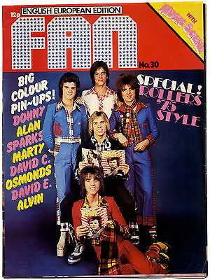 Fan Magazine Issue No 30 Sparks Donny Osmond David Cassidy New Seekers