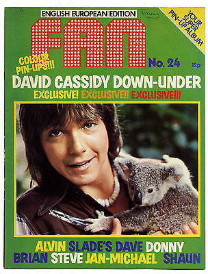 Fan Magazine No 24 August 1974 Sweet Brian Connolly Slade Donny Osmond Alvin Stardust David Cassidy